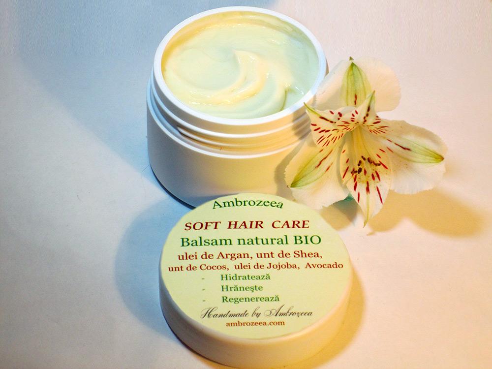 Balsam Natural Cu Ulei De Argan Pentru Păr Uscat Degradat Sau Creţ
